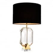 110145 Table Lamp Emerald gold finish incl shade настольная лампа Eichholtz