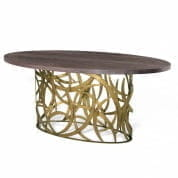 CCT43 Elliptical Miro Dining Table Porta Romana