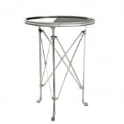 Side Table St Etienne antique silver finish Ø52cm SIDE TABLES Eichholtz