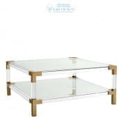 111983 Coffee Table Royalton brushed brass finish Eichholtz