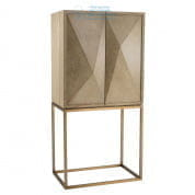 111464 Cabinet DeLaRenta washed oak brass finish Eichholtz
