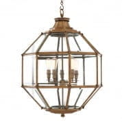 109203 Lantern Owen vintage brass finish Ø80cm люстра Eichholtz