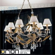 Люстра Orion Miramare LU 2406/8 oval silber-gold/2406 weiß