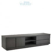 111449 TV Cabinet Crosby charcoal grey oak veneer Eichholtz