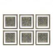 Prints EC232 Geometric Blueprints set of 6 отпечаток Eichholtz
