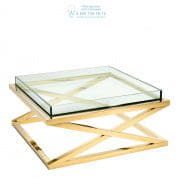 112394 Coffee Table Curtis gold finish  Eichholtz