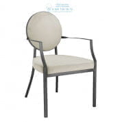 112161 Dining Chair Scribe with arm gunmetal pebble grey Eichholtz