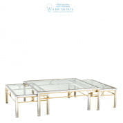 112310 Coffee Table Lindon pol ss gold finish set of 3  Eichholtz