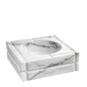 Ashtray Nestor honed white marble пепельница Eichholtz