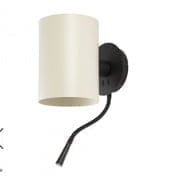 20032 Faro LUPE Structure black wall lamp with LED reader настенный светильник