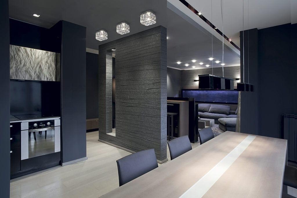 Дизайн квартиры в стиле хай тек фото