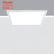 QI25 iPlan Access iGuzzini 600x600 mm panel - neutral white - UGR<19 microprismatic screen - electronic