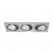 114216 SLV NEW TRIA 3 DL SET светильник с 3 COB LED 6W, 3000К, алюминий