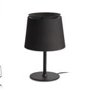 20314 Faro SAVOY Black shade table lamp настольная лампа