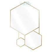 111663 Mirror Hexa gold finish Eichholtz