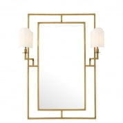 109313 Mirror Astaire with Lamps vintage brass finish зеркало Eichholtz