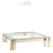 112459 Coffee Table Titan polished ss gold finish  Eichholtz