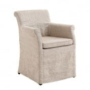 Dining Chair Tampa off white linen (slipcover) - U стул Eichholtz