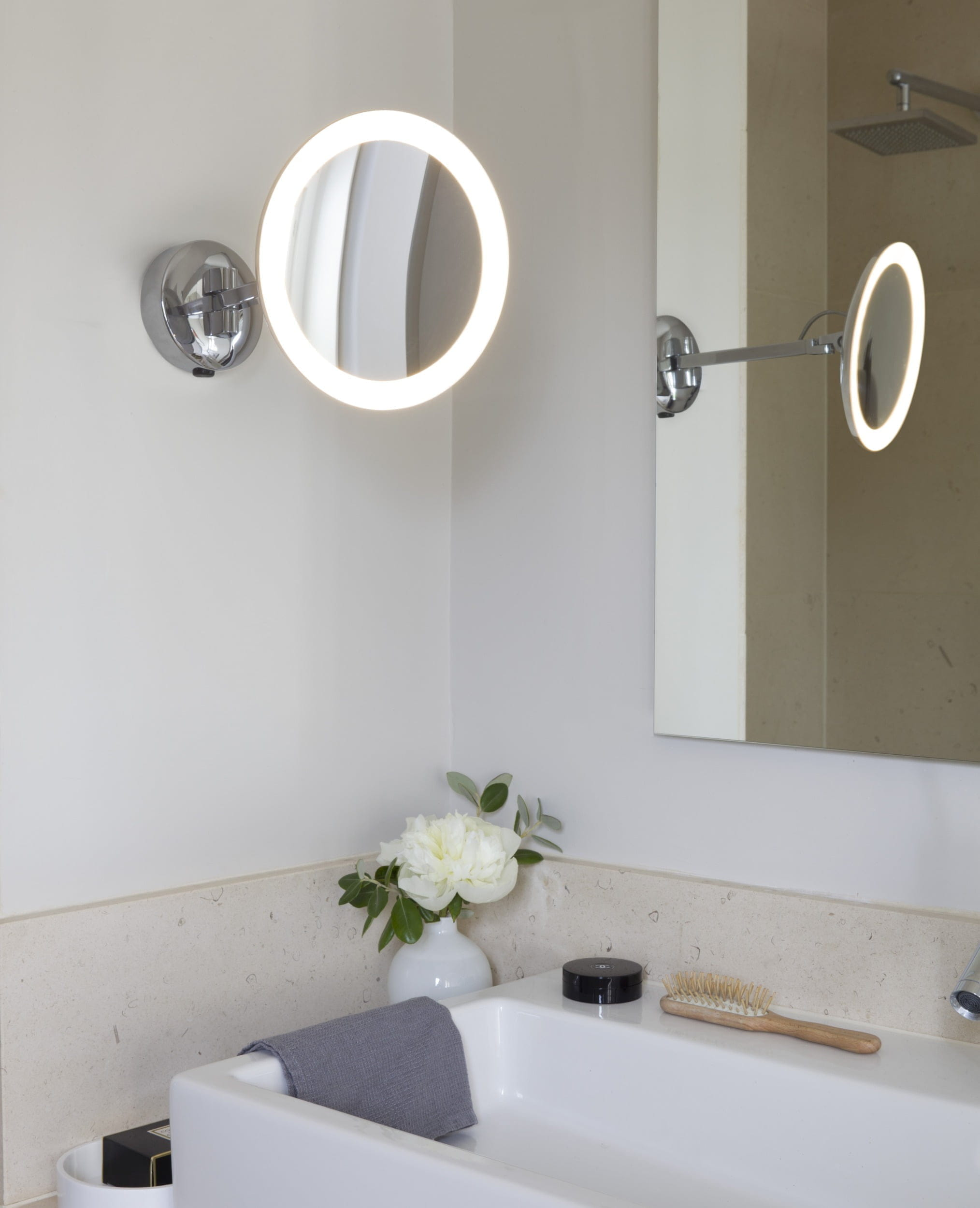 Round led mirror bathroom milwaukee electrical pouch