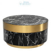 112251 Coffee Table Caron faux black marble brass finish Eichholtz