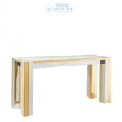 112469 Console Table Titan polished ss gold finish Eichholtz
