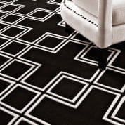 Carpet Caton black & off white 3 x 4 m ковер Eichholtz
