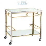112404 Trolley Lindon pol ss gold finish set Eichholtz
