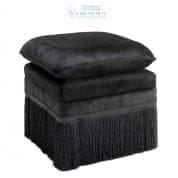 109854 Stool Rochas essex black  Eichholtz