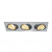 114206 SLV NEW TRIA 3 DL SET светильник с 3 COB LED 6W, 2700К, алюмиий