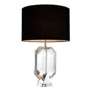 110144 Table Lamp Emerald nickel finish incl shade  настольная лампа Eichholtz