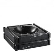 Ashtray Nestor black marble пепельница Eichholtz