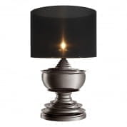 Table Lamp Pagoda black nickel finish incl. shade настольная лампа Eichholtz