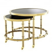 Side Table Nestor set of 2 gold finish SIDE TABLES Eichholtz