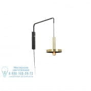 20168 WHIZZ Satin gold and black extensible wall lamp настенный светильник Faro barcelona