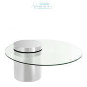 111432 Coffee Table Equilibre polished stainless steel Eichholtz