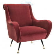 112200 Chair Giardino cameron wine red Eichholtz