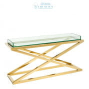 112396 Console Table Curtis gold finish  Eichholtz