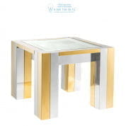 112468 Side Table Titan polished ss gold finish Eichholtz
