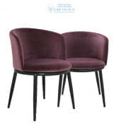 111994 Dining Chair Filmore cameron purple set of 2 Eichholtz