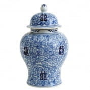 Vase Glamour chinese blue XL керамика Eichholtz