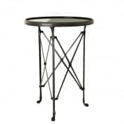Side Table St Etienne gunmetal bronze Ø52 SIDE TABLES Eichholtz