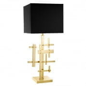 Table Lamp Tortuga polished brass incl. shade настольная лампа Eichholtz