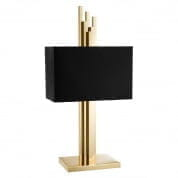Table Lamp Caruso polished brass incl shade настольная лампа Eichholtz