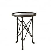 Side Table St Etienne gunmetal bronze Ø42 SIDE TABLES Eichholtz