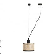 64314 Faro MAMBO Black pendant lamp with tensioner подвесной светильник
